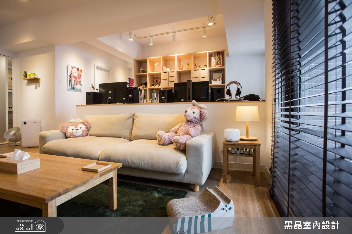 25坪新成屋(5年以下)_混搭風客廳案例圖片_黑晶室內設計_黑晶_14之6