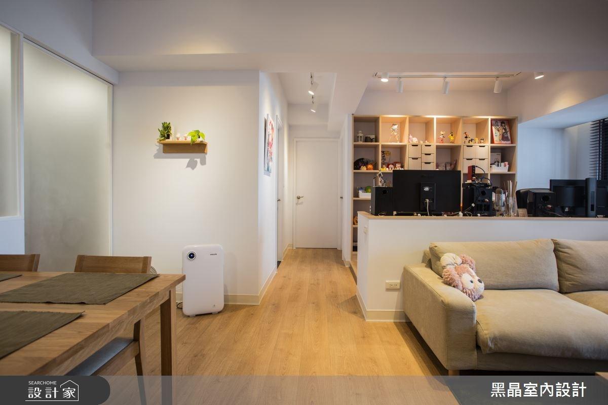 25坪新成屋(5年以下)_混搭風客廳餐廳案例圖片_黑晶室內設計_黑晶_14之7