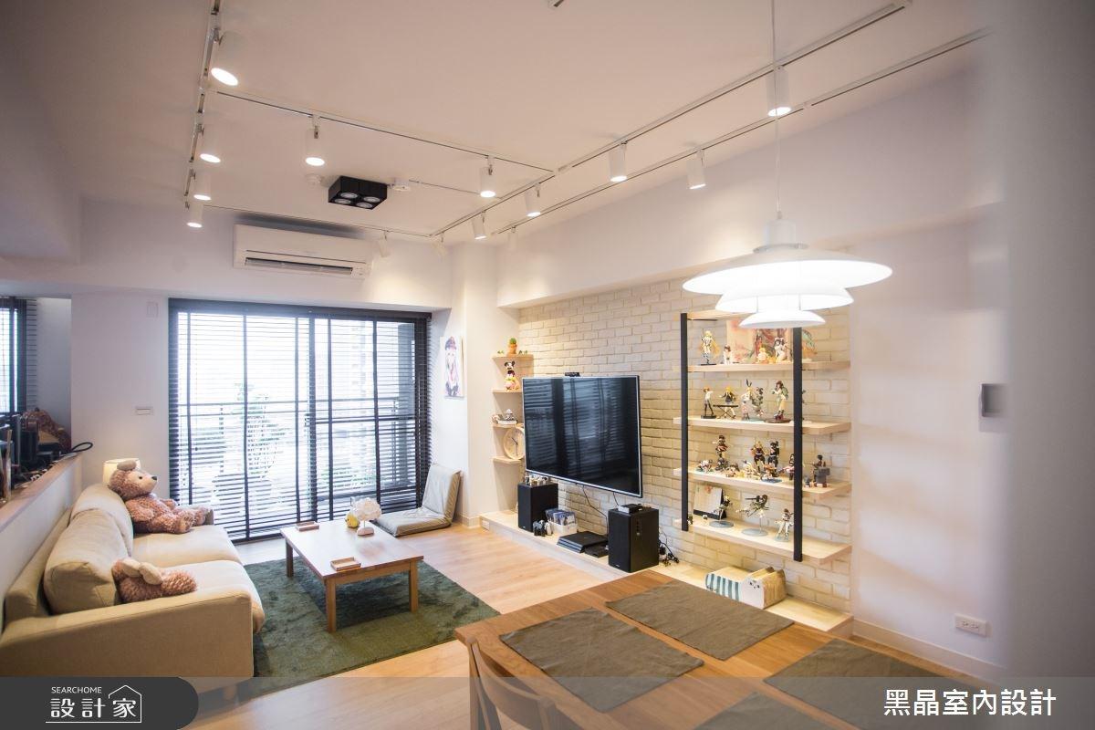 25坪新成屋(5年以下)_混搭風客廳餐廳案例圖片_黑晶室內設計_黑晶_14之4