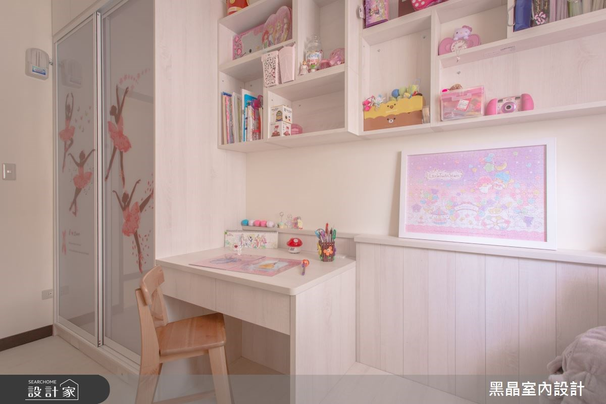 27坪中古屋(5~15年)_療癒風兒童房兒童房案例圖片_黑晶室內設計_黑晶_17之13