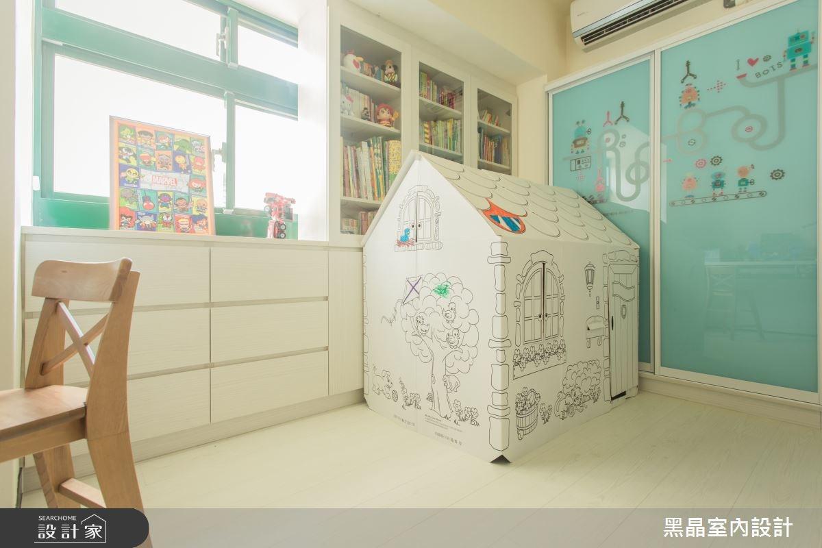 27坪中古屋(5~15年)_療癒風兒童房兒童房案例圖片_黑晶室內設計_黑晶_17之16