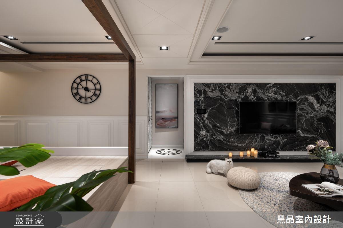53坪新成屋(5年以下)_新古典客廳案例圖片_黑晶室內設計_黑晶_19之4