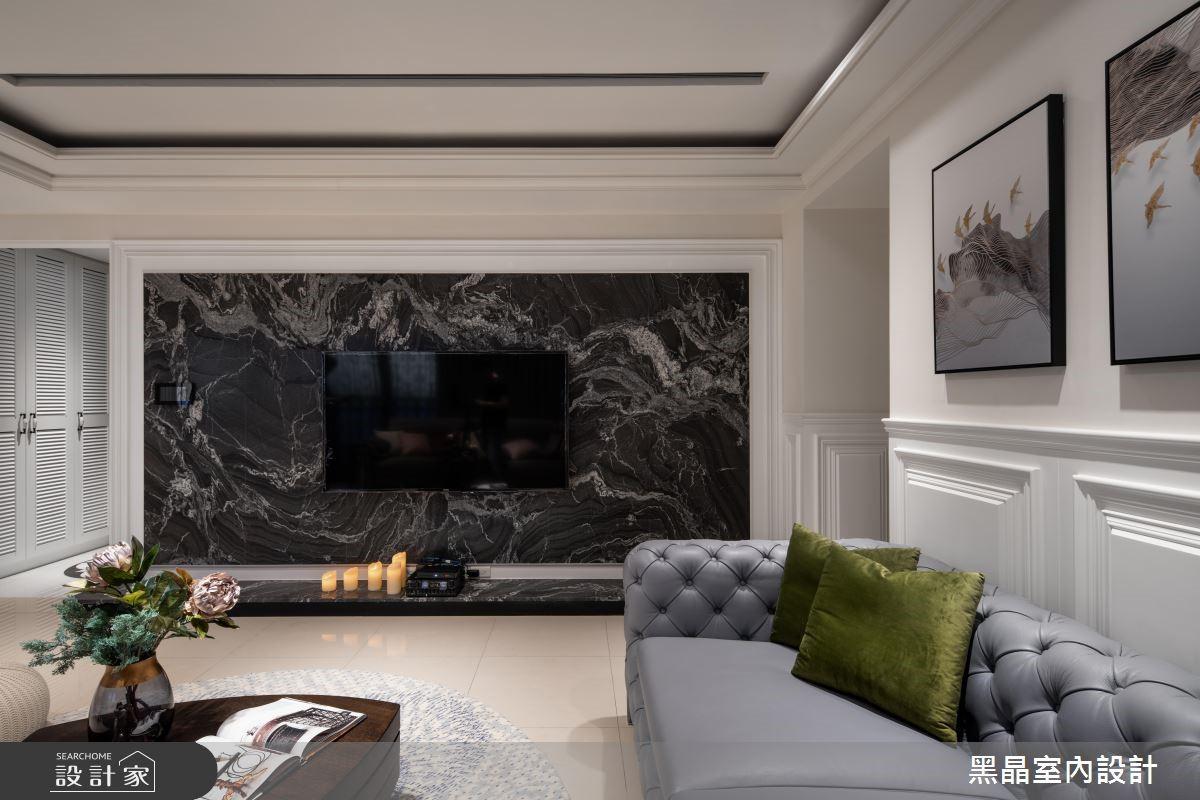 53坪新成屋(5年以下)_新古典客廳案例圖片_黑晶室內設計_黑晶_19之2