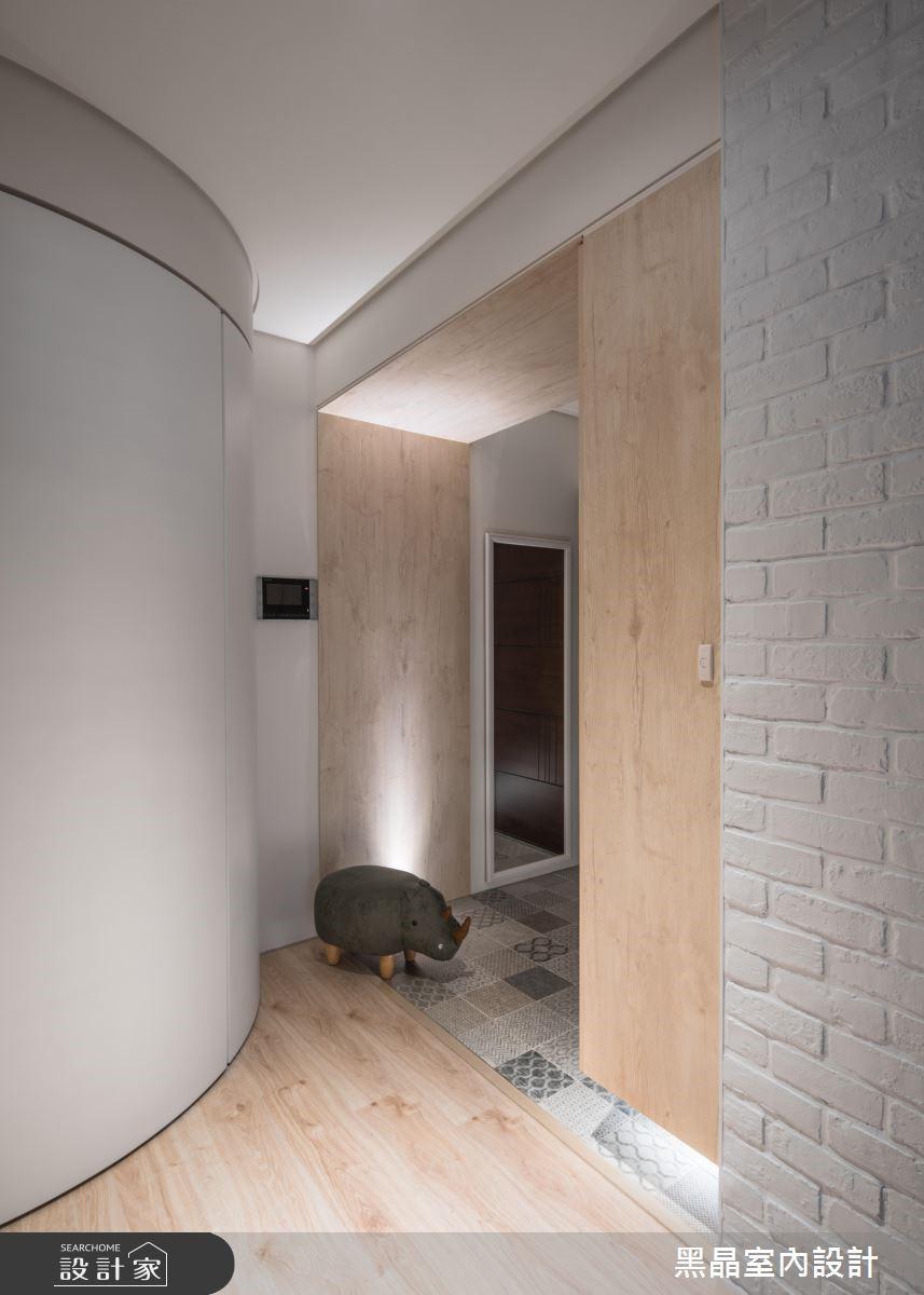 27坪新成屋(5年以下)_北歐風玄關案例圖片_黑晶室內設計_黑晶_20之2