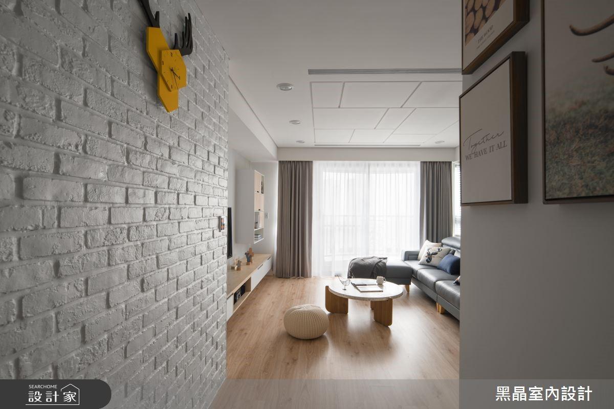 27坪新成屋(5年以下)_北歐風客廳走廊案例圖片_黑晶室內設計_黑晶_20之3
