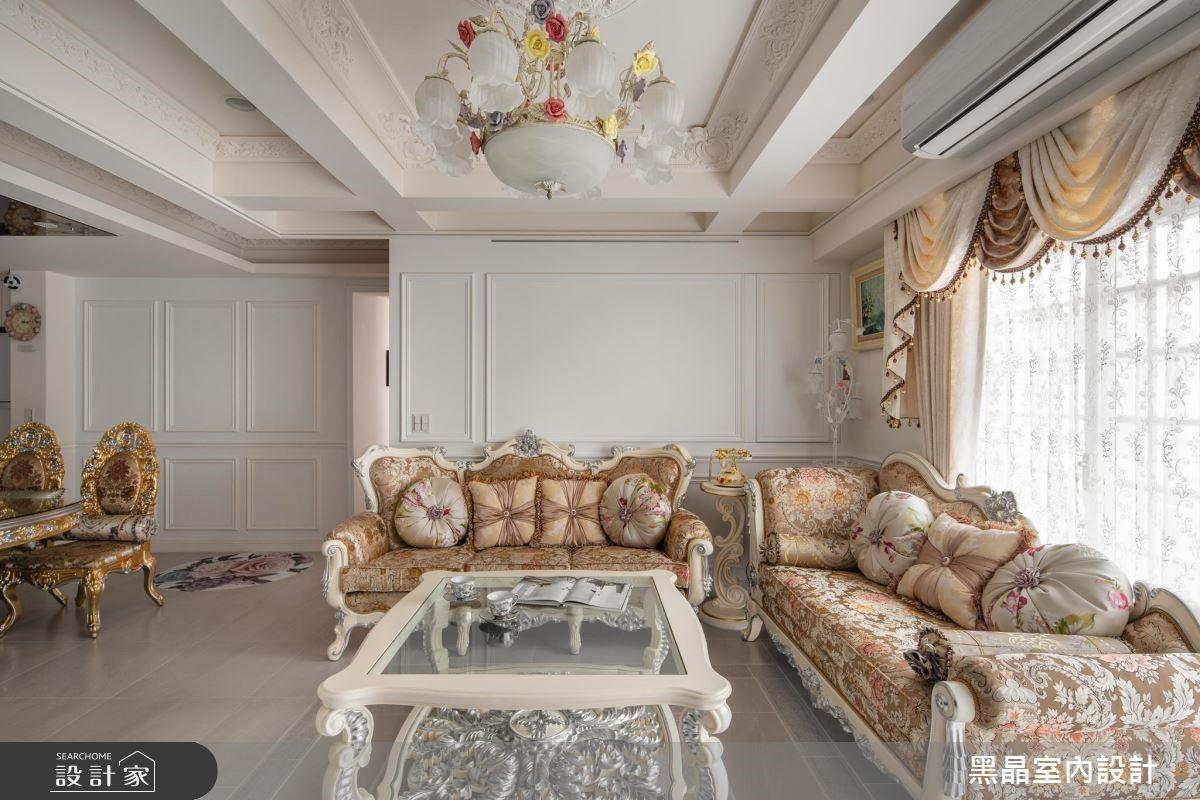 27坪老屋(16~30年)_新古典客廳案例圖片_黑晶室內設計_黑晶_21之2