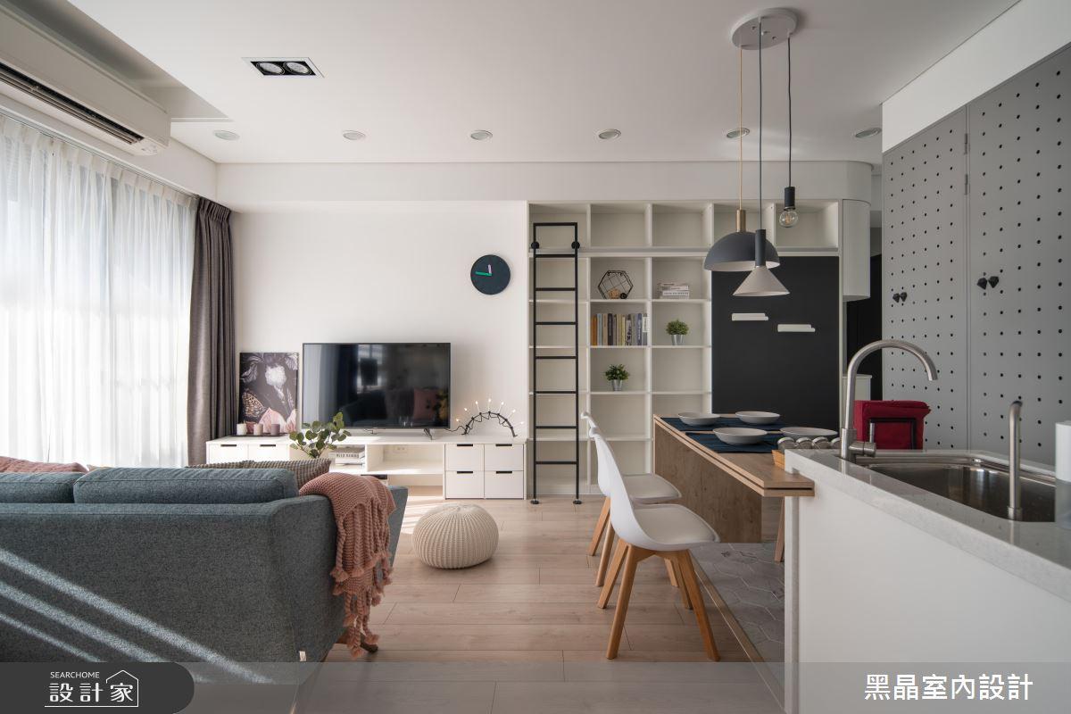 18坪新成屋(5年以下)_北歐風客廳餐廳案例圖片_黑晶室內設計_黑晶_25之10
