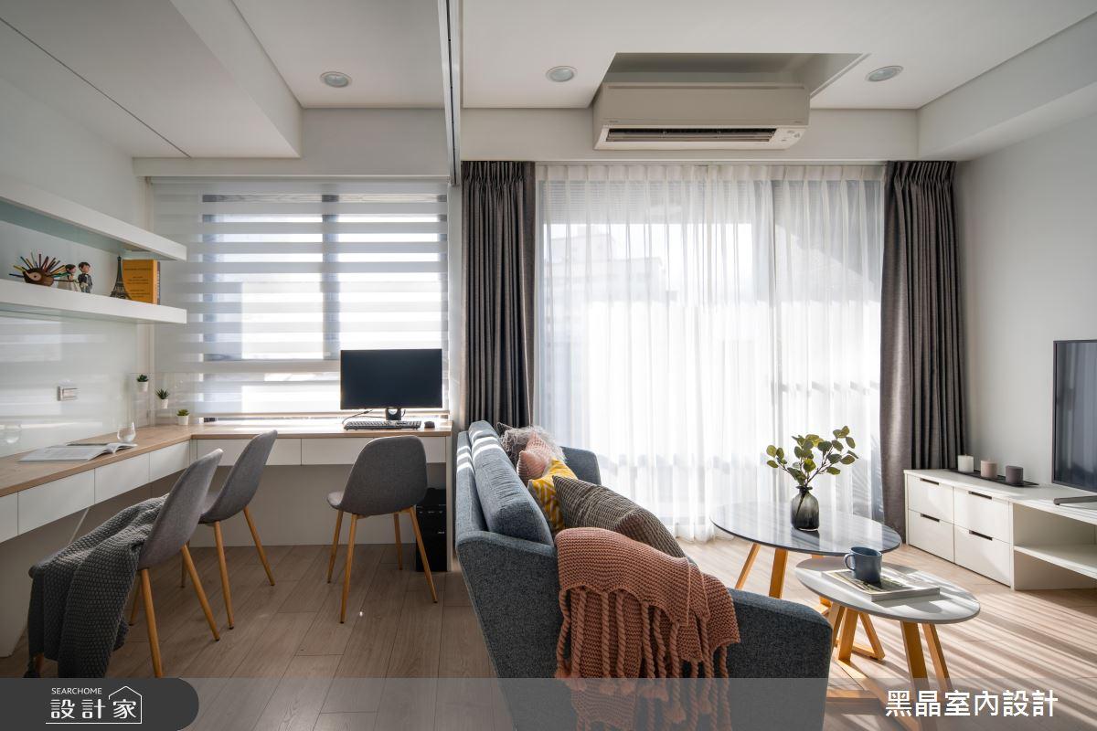 18坪新成屋(5年以下)_北歐風客廳書房案例圖片_黑晶室內設計_黑晶_25之11