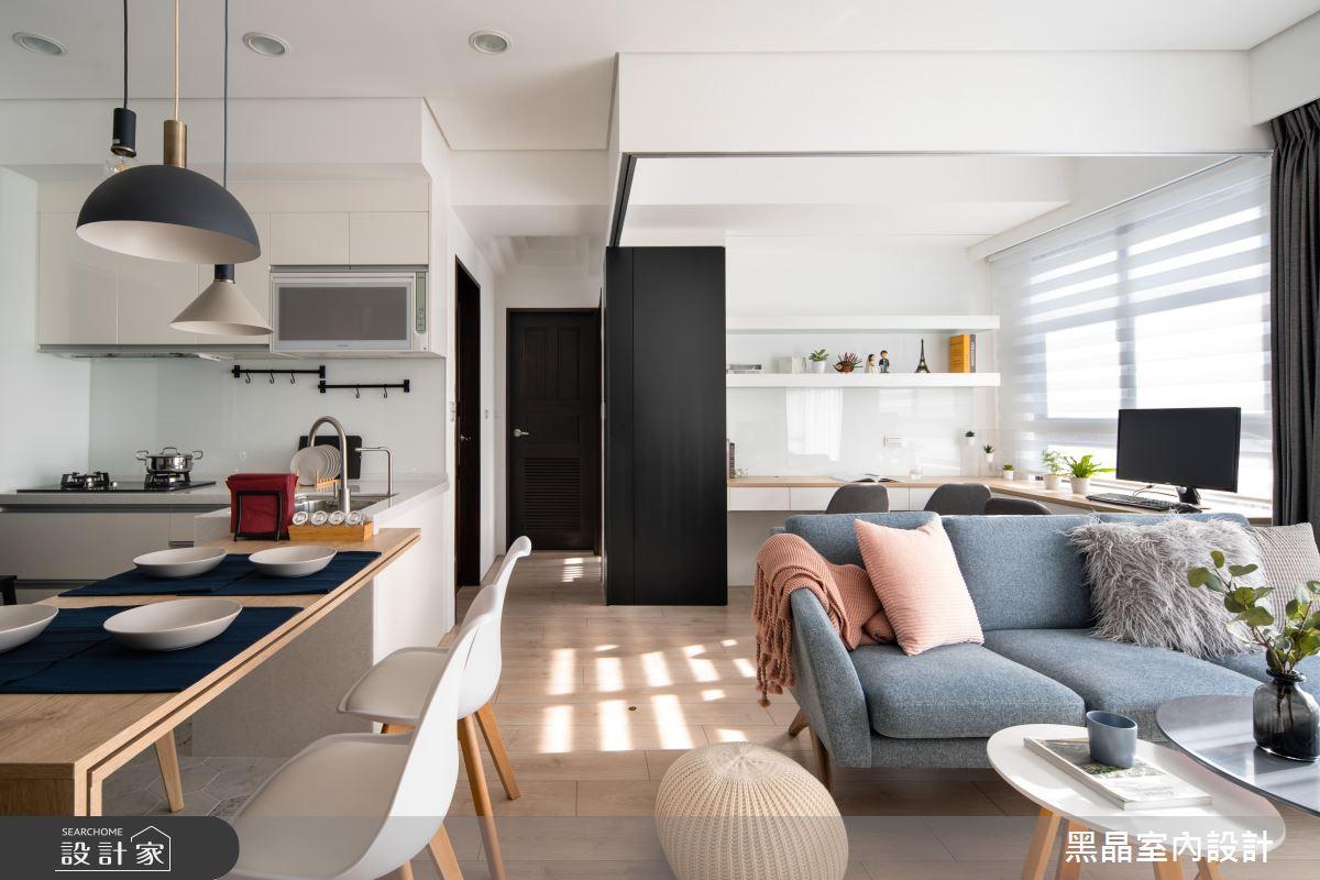 18坪新成屋(5年以下)_北歐風客廳餐廳廚房案例圖片_黑晶室內設計_黑晶_25之3