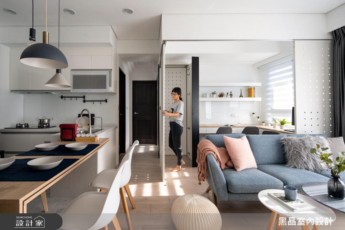 18坪新成屋(5年以下)_北歐風客廳餐廳廚房案例圖片_黑晶室內設計_黑晶_25之4