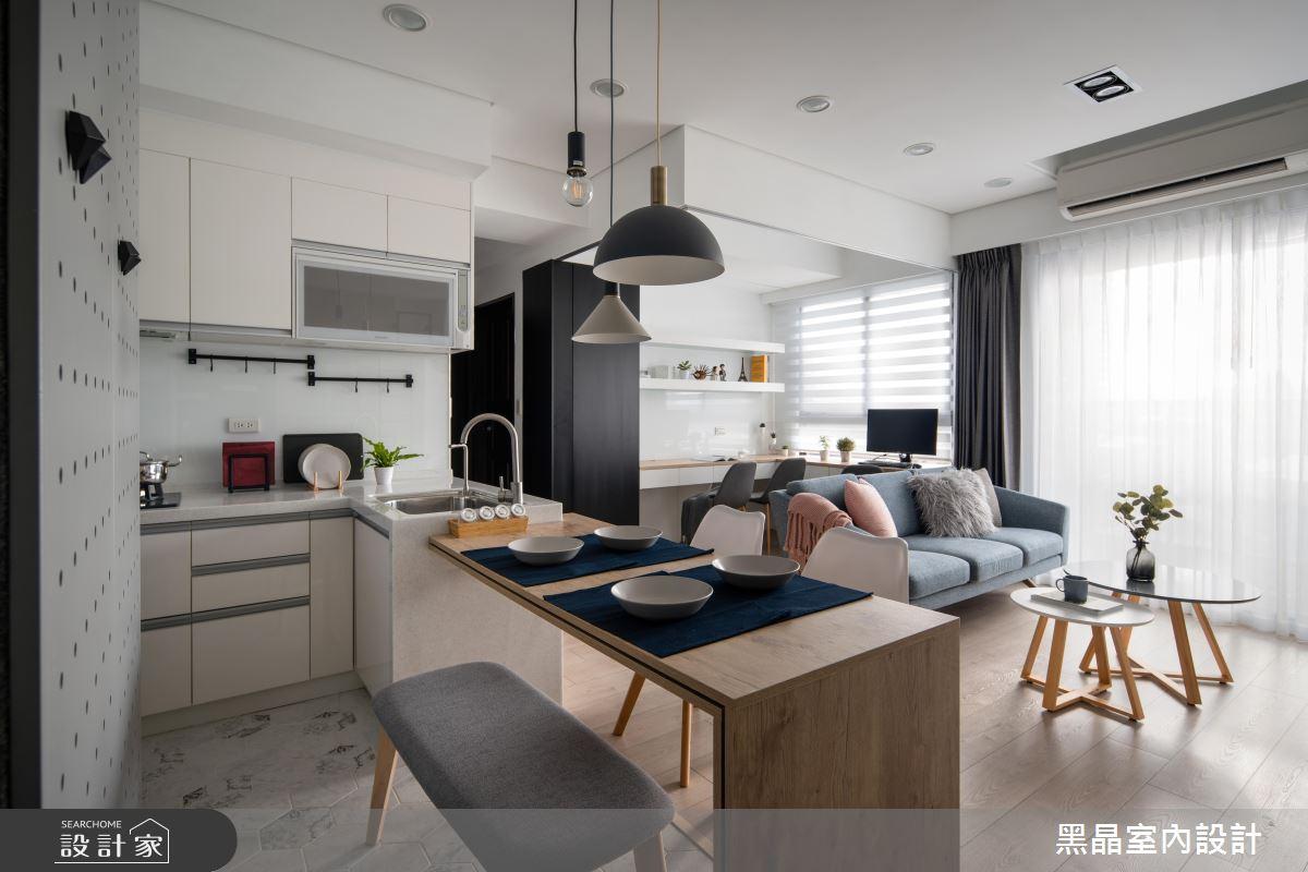 18坪新成屋(5年以下)_北歐風餐廳廚房案例圖片_黑晶室內設計_黑晶_25之5