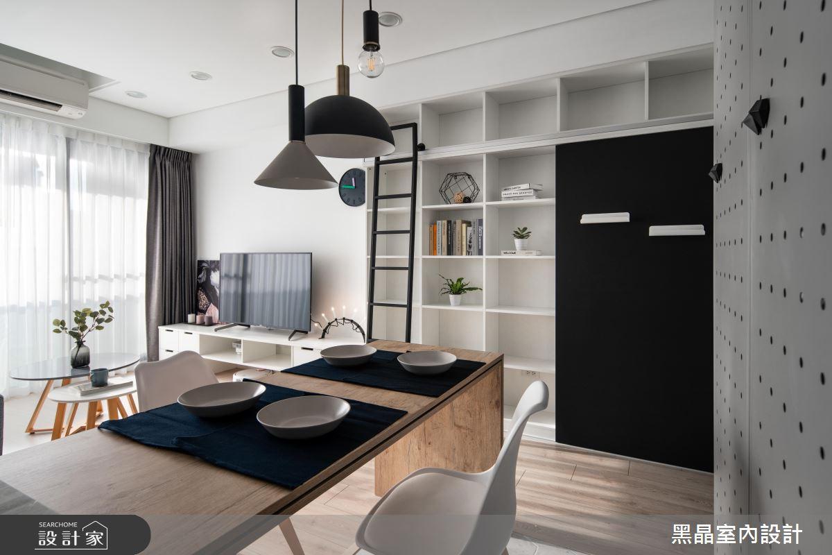 18坪新成屋(5年以下)_北歐風餐廳案例圖片_黑晶室內設計_黑晶_25之9