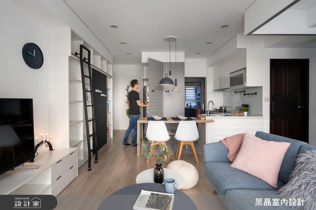 18坪新成屋(5年以下)_北歐風客廳案例圖片_黑晶室內設計_黑晶_25之7