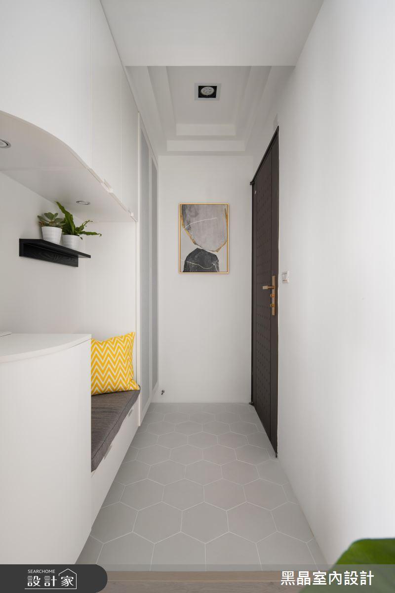 18坪新成屋(5年以下)_北歐風玄關案例圖片_黑晶室內設計_黑晶_25之1