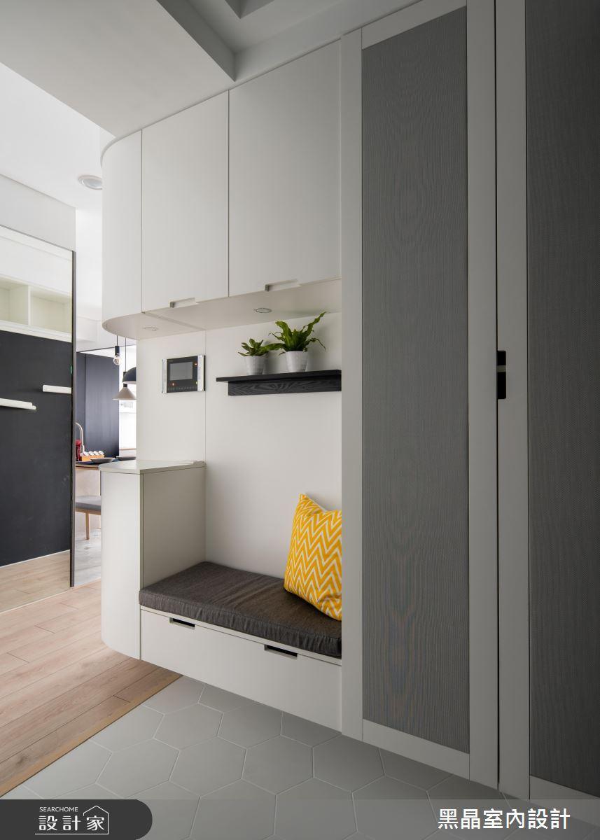 18坪新成屋(5年以下)_北歐風玄關案例圖片_黑晶室內設計_黑晶_25之2