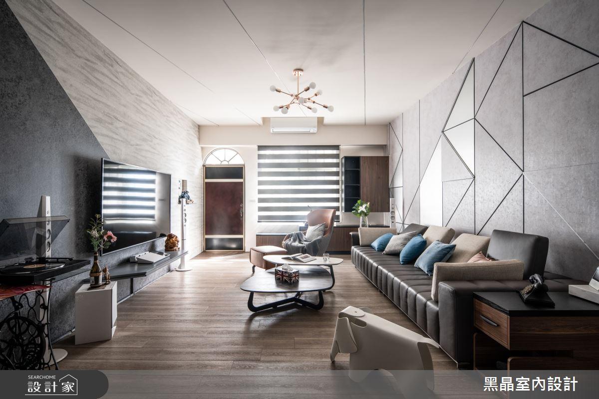 75坪老屋(16~30年)_混搭風客廳案例圖片_黑晶室內設計_黑晶_36之2