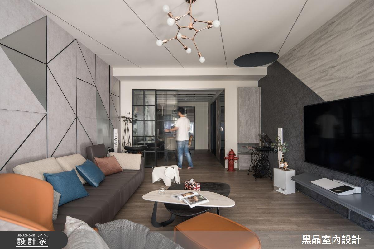 75坪老屋(16~30年)_混搭風客廳案例圖片_黑晶室內設計_黑晶_36之3