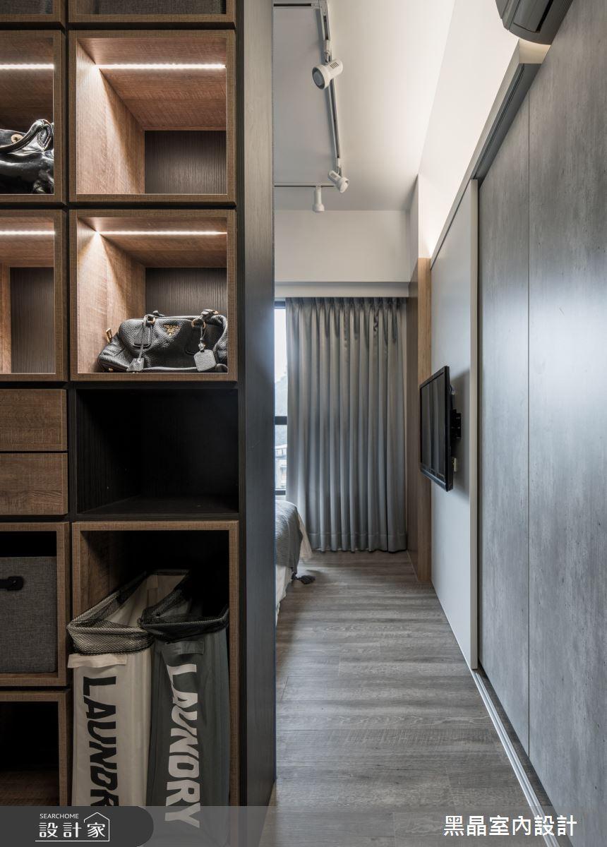 30坪新成屋(5年以下)_工業風臥室案例圖片_黑晶室內設計_黑晶_37之18