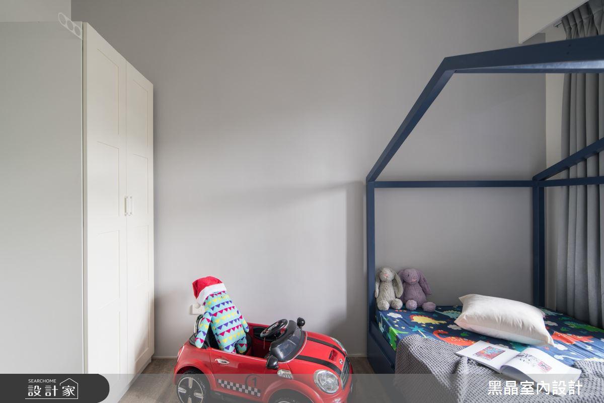 30坪新成屋(5年以下)_工業風臥室案例圖片_黑晶室內設計_黑晶_37之19