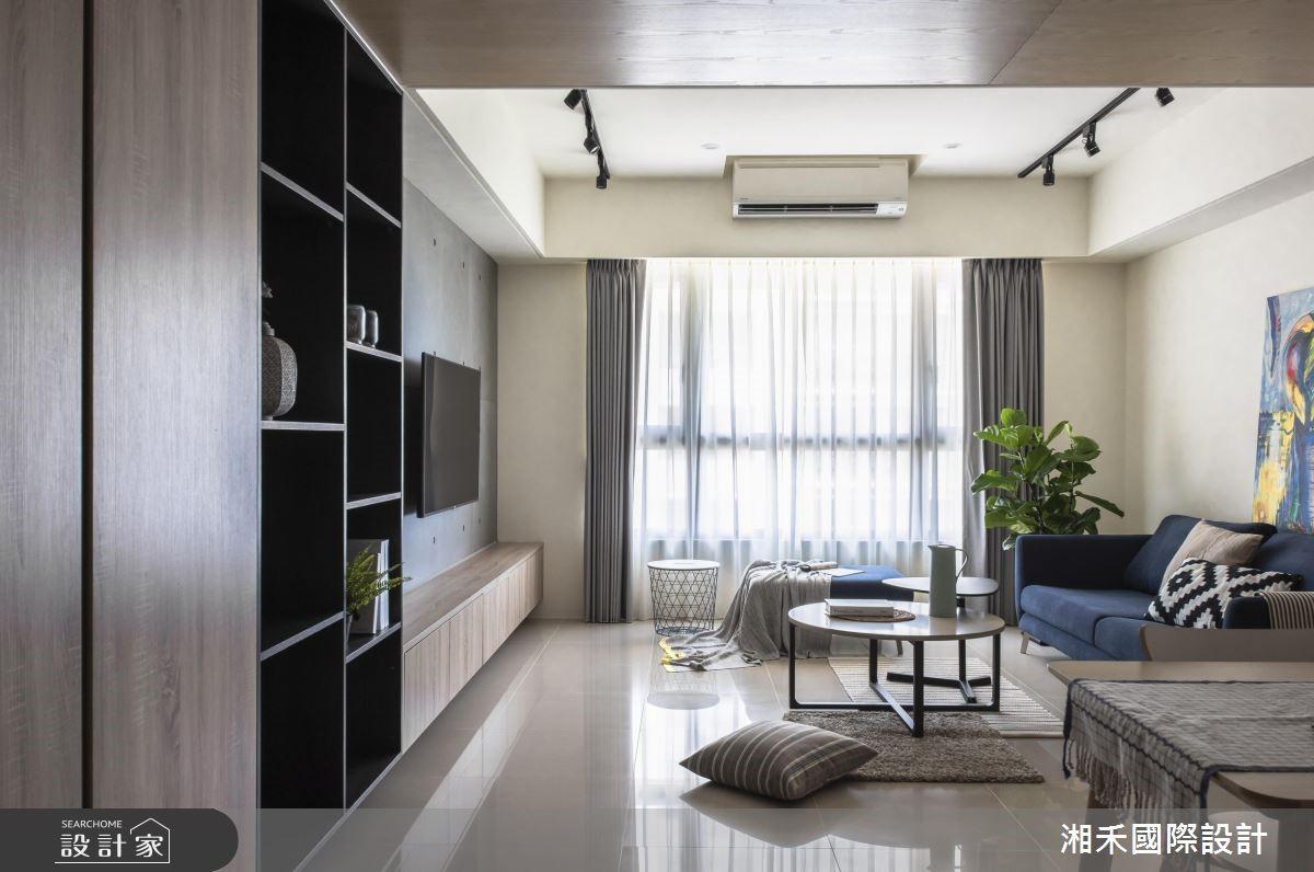 25坪新成屋(5年以下)_簡約風客廳案例圖片_湘禾國際設計_湘禾_12之2