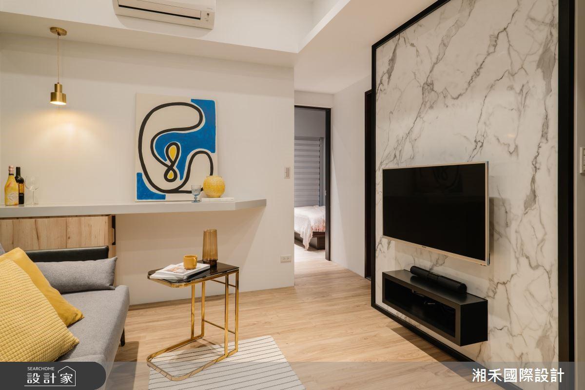 18坪新成屋(5年以下)_混搭風客廳案例圖片_湘禾國際設計_湘禾_14之4