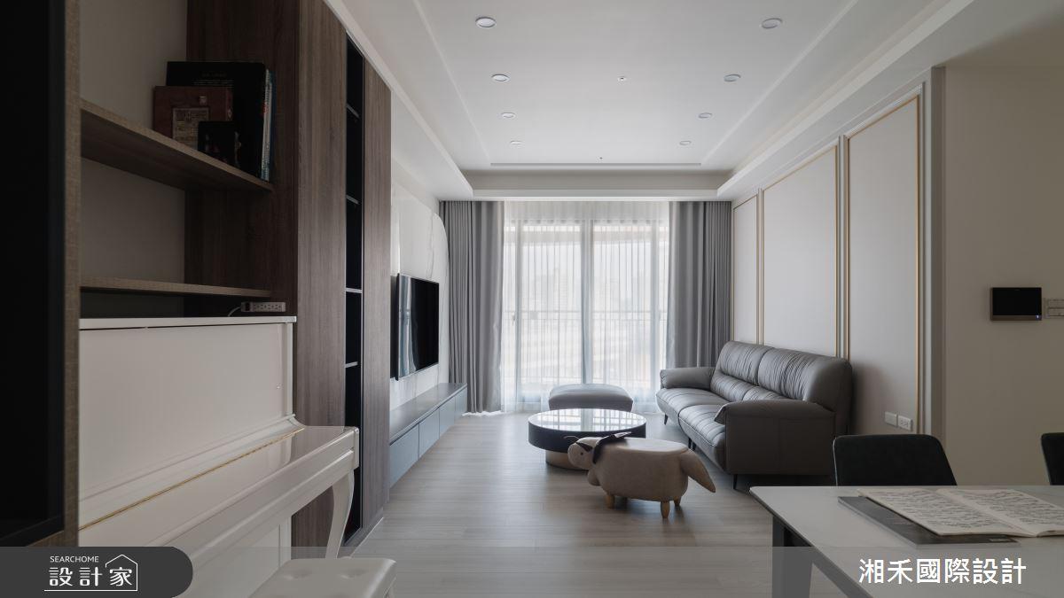 45坪新成屋(5年以下)_混搭風客廳案例圖片_湘禾國際設計_湘禾_19之2