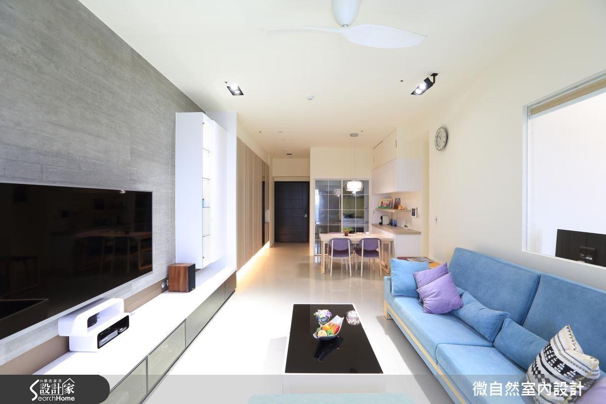34坪新成屋(5年以下)_北歐風案例圖片_微自然室內裝修設計有限公司_微自然_02之4