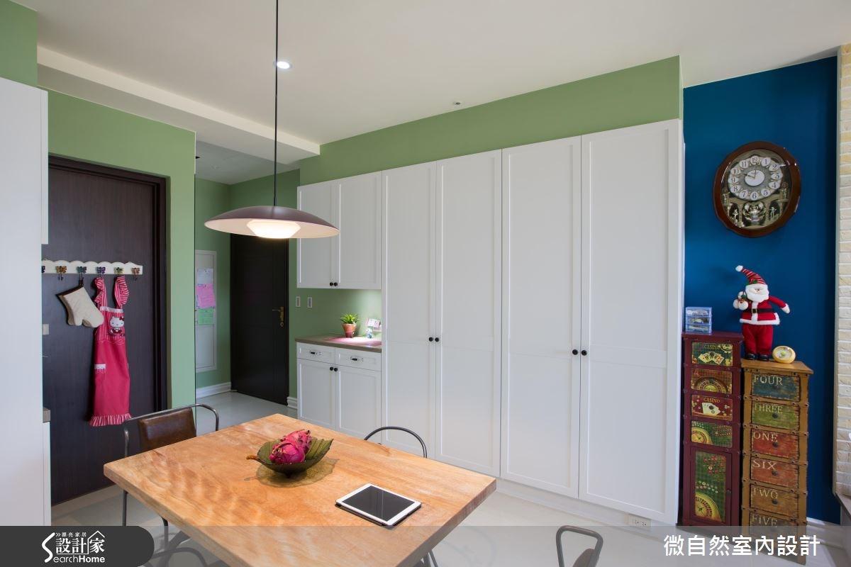 28坪新成屋(5年以下)_美式風案例圖片_微自然室內裝修設計有限公司_微自然_03之3