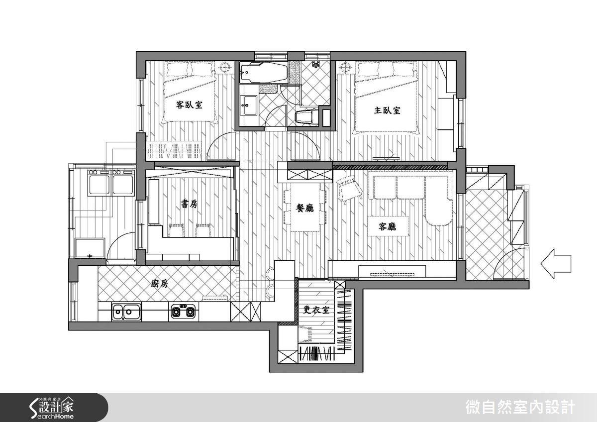 25坪中古屋(5~15年)_鄉村風案例圖片_微自然室內裝修設計有限公司_微自然_05之14