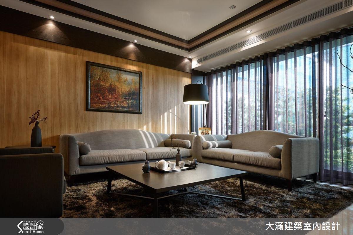 70坪新成屋(5年以下)_新中式風案例圖片_大滿建築室內設計_大滿_10之1