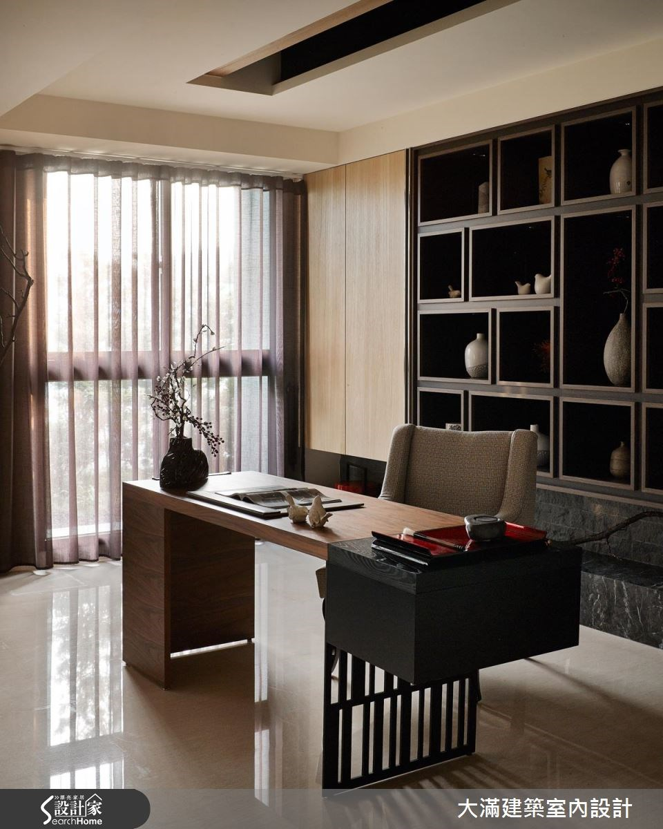 70坪新成屋(5年以下)_新中式風案例圖片_大滿建築室內設計_大滿_10之5