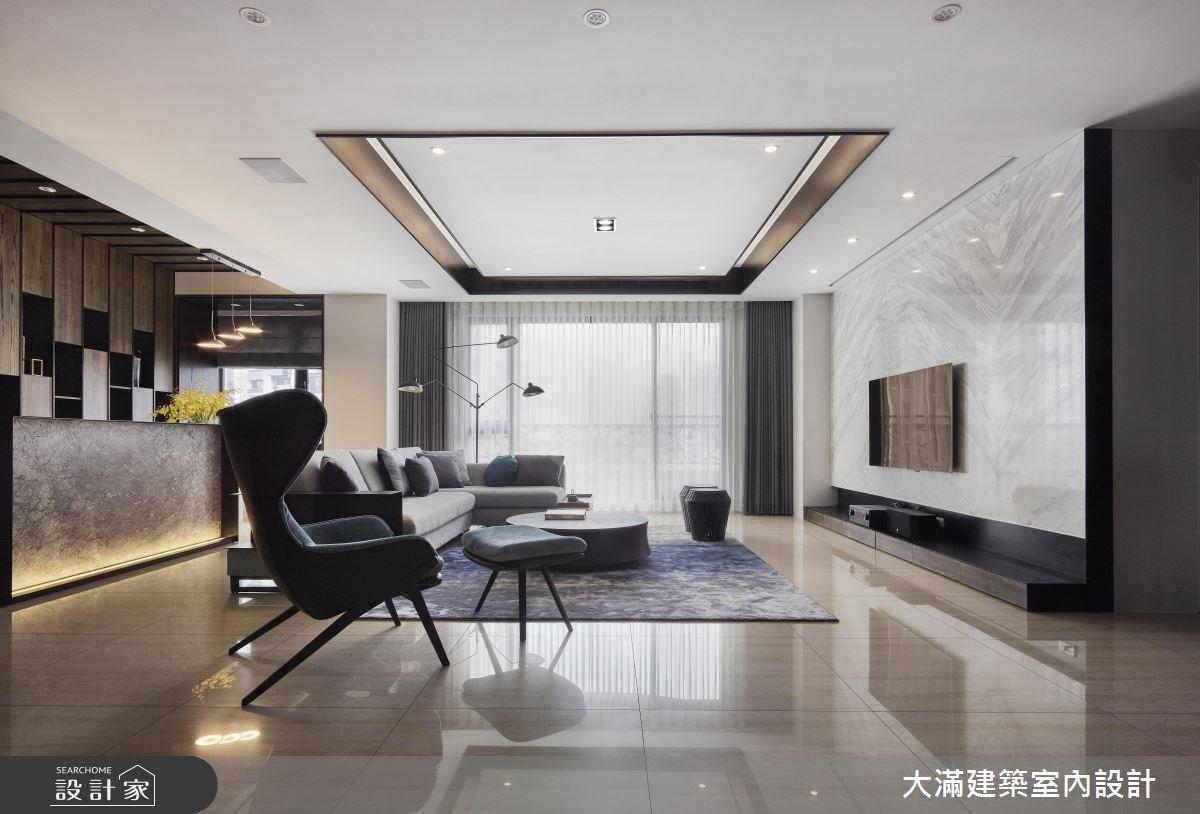 120坪新成屋(5年以下)_混搭風案例圖片_大滿建築室內設計_大滿_15之2