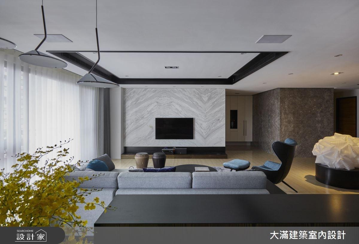 120坪新成屋(5年以下)_混搭風案例圖片_大滿建築室內設計_大滿_15之3