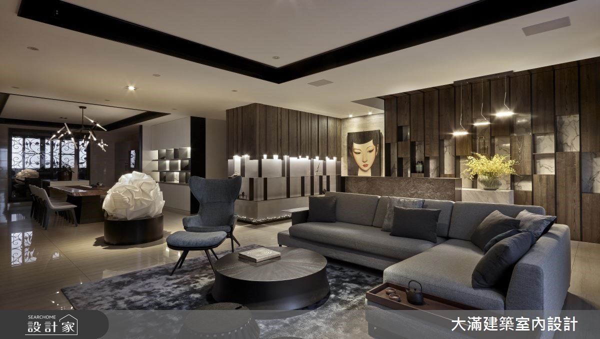 120坪新成屋(5年以下)_混搭風案例圖片_大滿建築室內設計_大滿_15之4