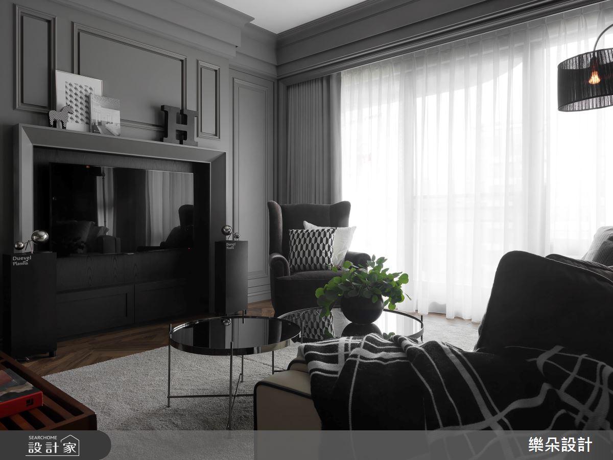 40坪新成屋(5年以下)_新古典案例圖片_樂朵室內設計_樂朵_02之3