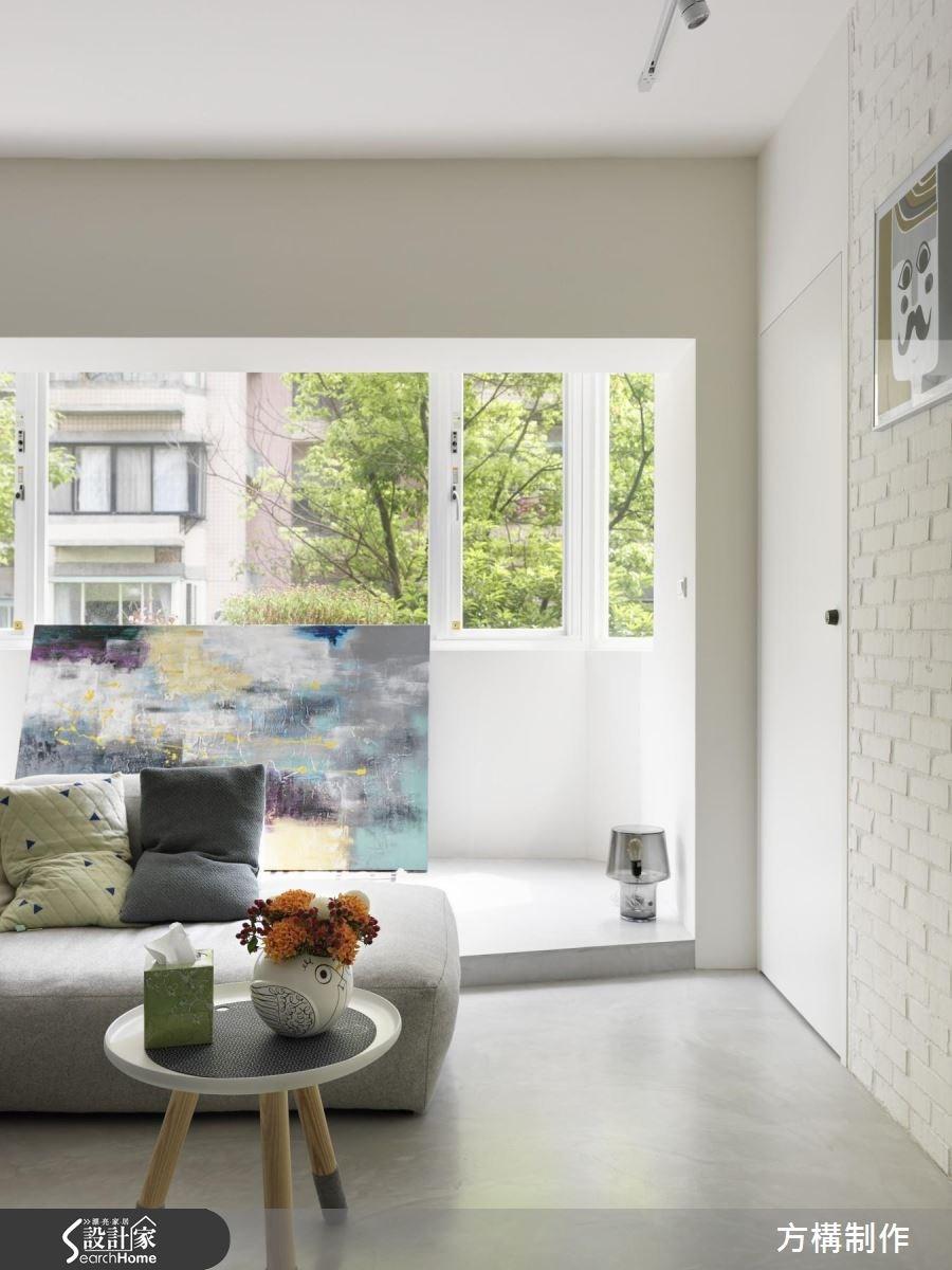 27坪老屋(16~30年)_北歐風客廳案例圖片_方構制作空間設計_方構_05之3