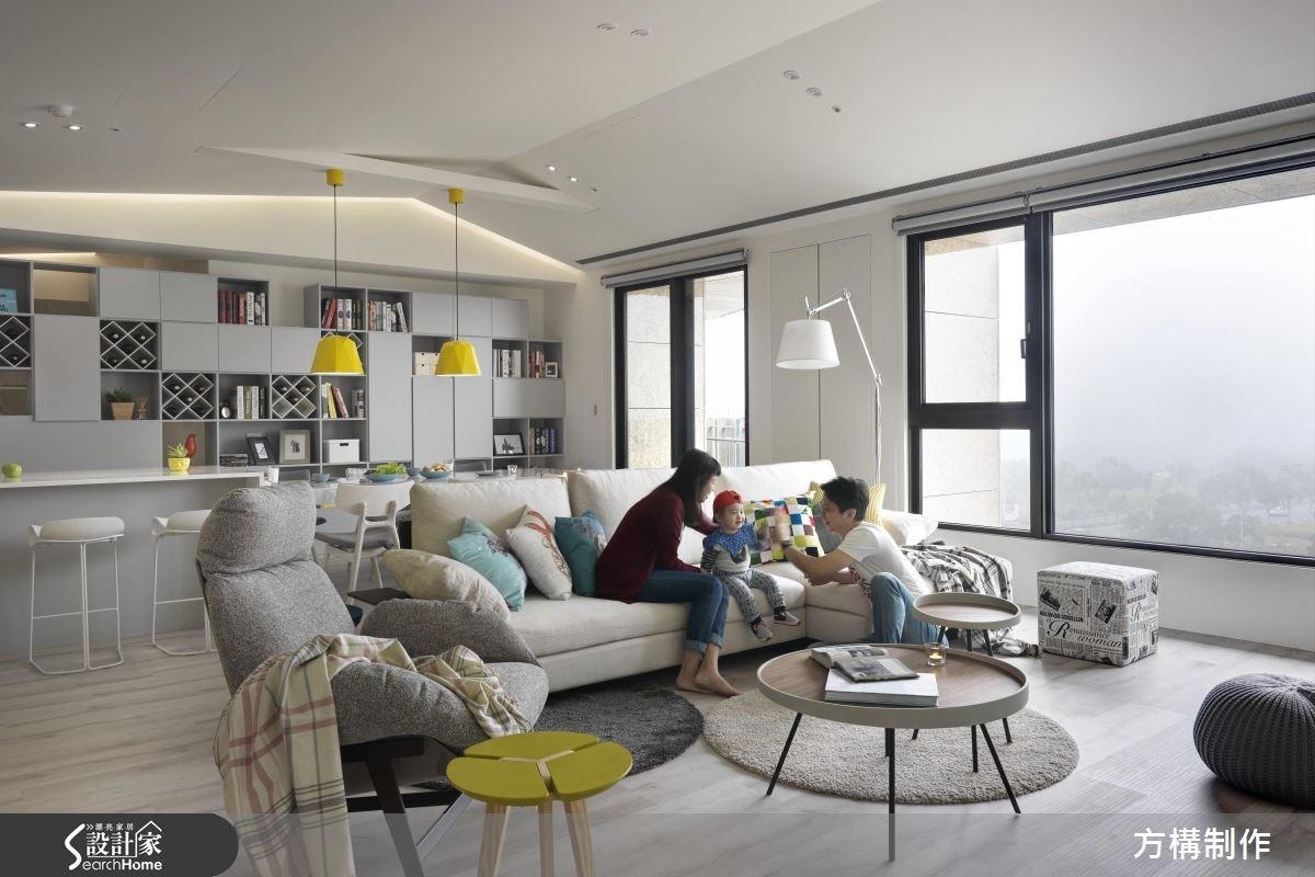 62坪新成屋(5年以下)_北歐風客廳案例圖片_方構制作空間設計_方構_06之3
