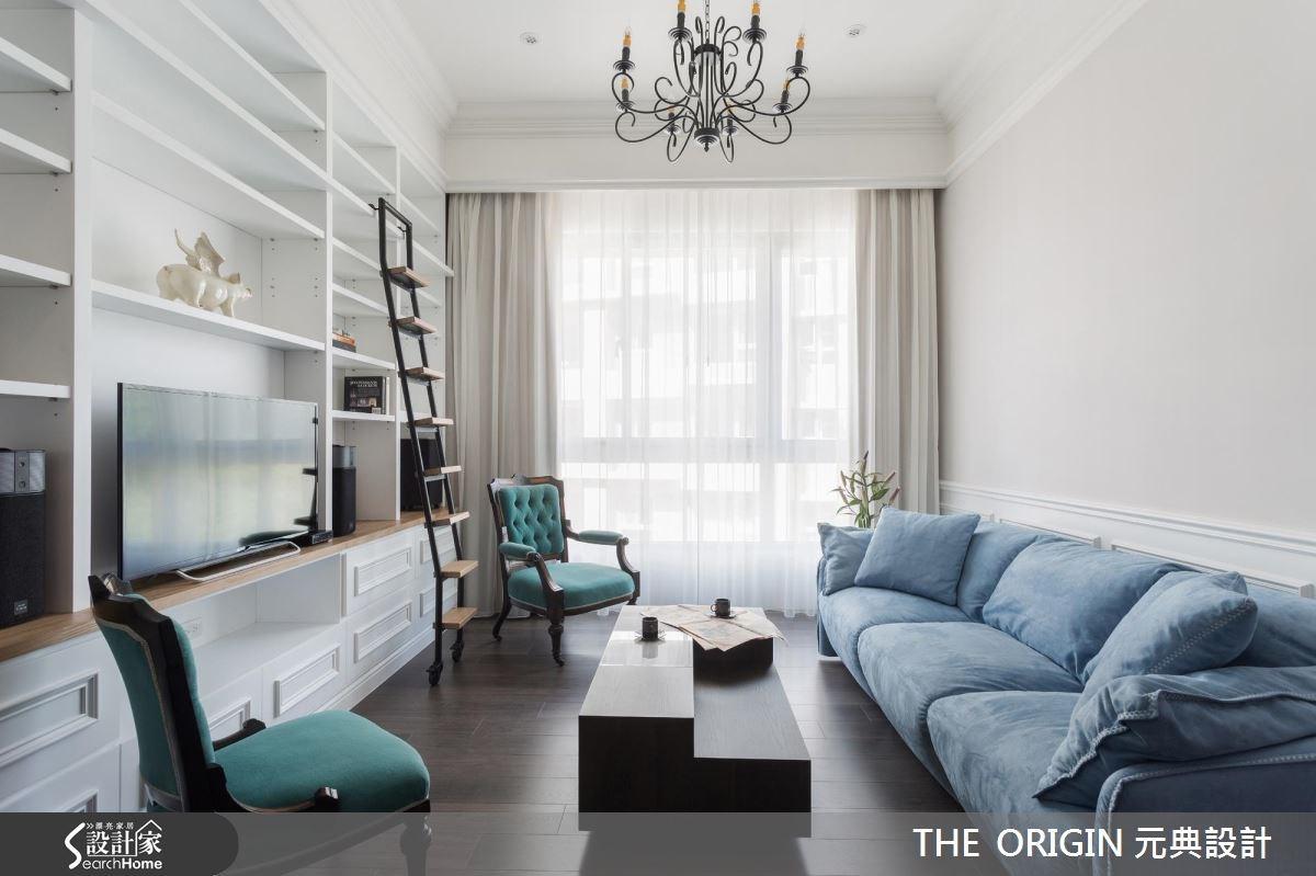 40坪新成屋(5年以下)_新古典客廳樓梯案例圖片_THE ORIGIN 元典設計_元典_06之3