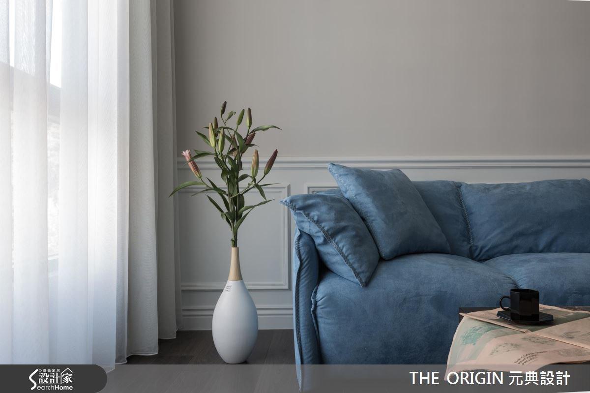40坪新成屋(5年以下)_新古典客廳案例圖片_THE ORIGIN 元典設計_元典_06之4