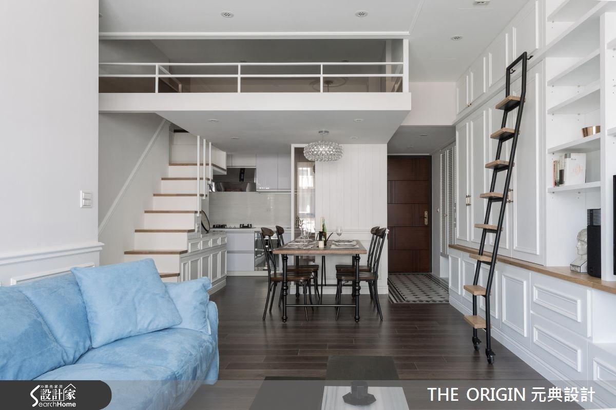 40坪新成屋(5年以下)_新古典餐廳樓梯案例圖片_THE ORIGIN 元典設計_元典_06之6