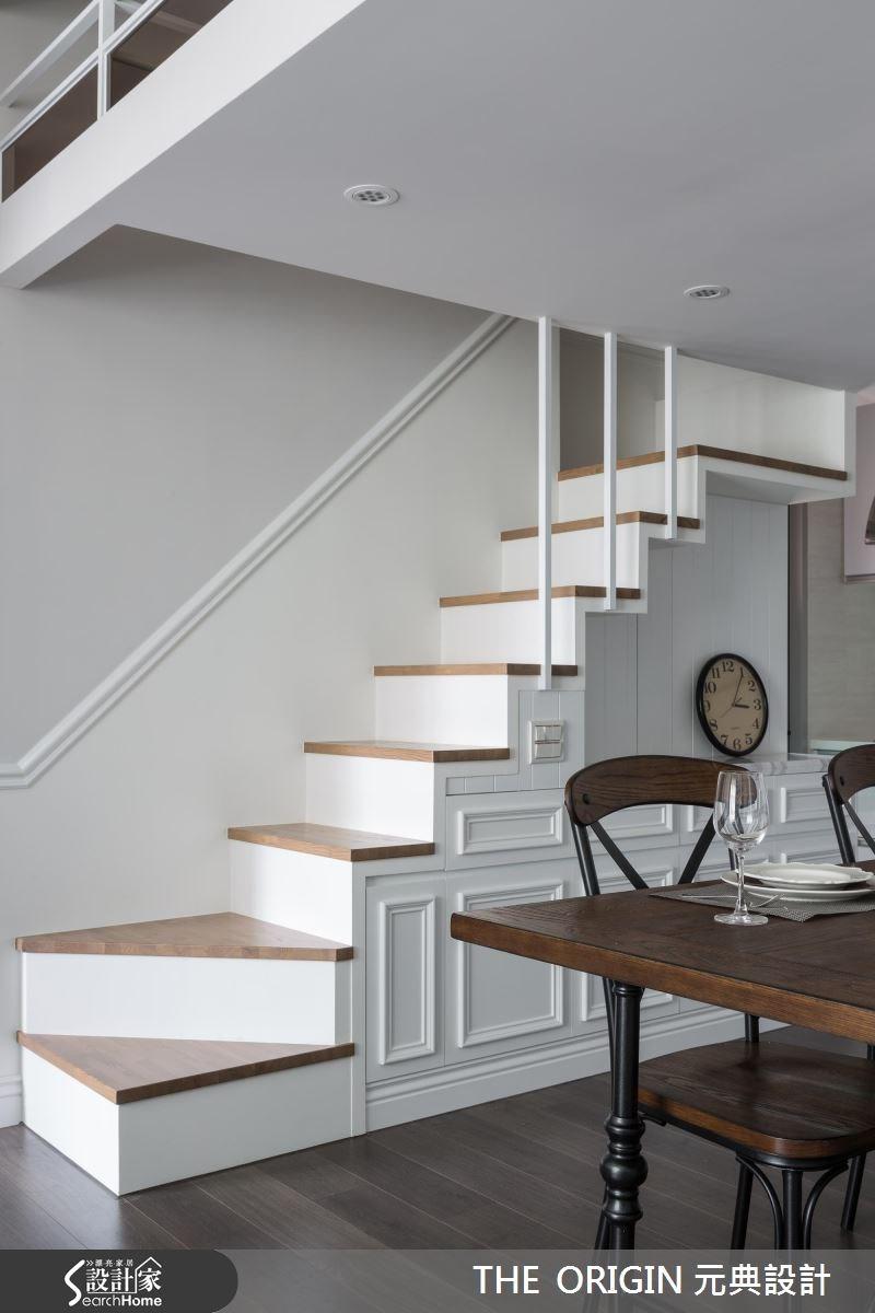 40坪新成屋(5年以下)_新古典餐廳樓梯案例圖片_THE ORIGIN 元典設計_元典_06之7