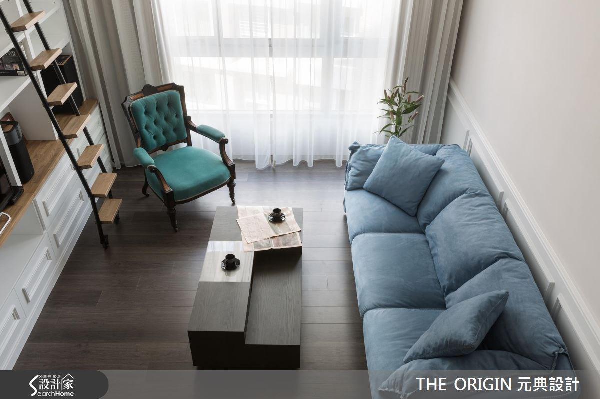 40坪新成屋(5年以下)_新古典客廳案例圖片_THE ORIGIN 元典設計_元典_06之8