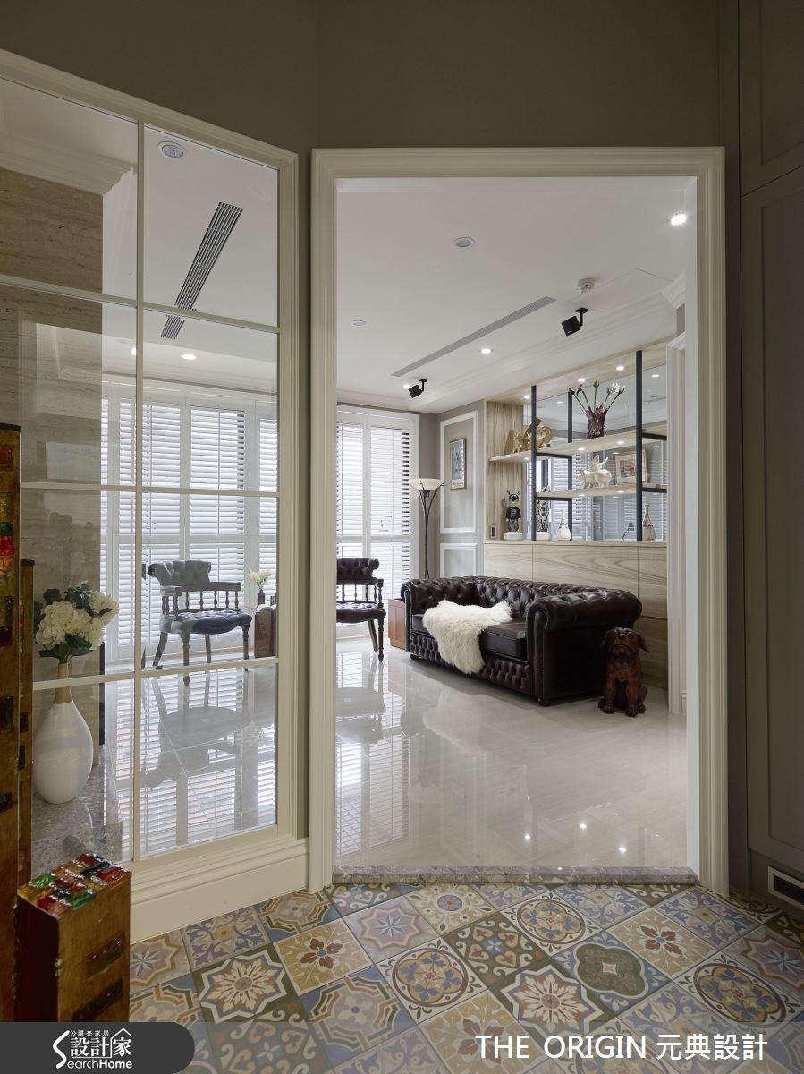 40坪新成屋(5年以下)_美式風客廳案例圖片_THE ORIGIN 元典設計_元典_10之1