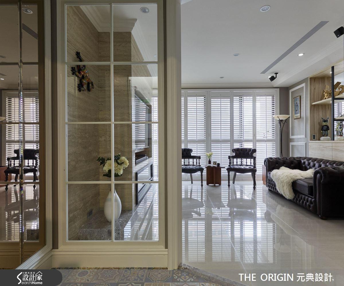 40坪新成屋(5年以下)_美式風客廳案例圖片_THE ORIGIN 元典設計_元典_10之2