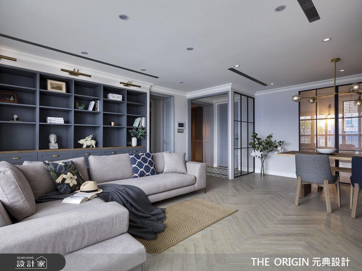 37坪新成屋(5年以下)_美式風客廳案例圖片_THE ORIGIN 元典設計_元典_18之8