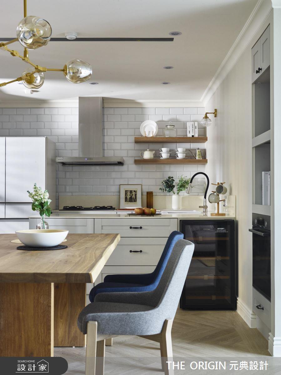 37坪新成屋(5年以下)_美式風餐廳廚房案例圖片_THE ORIGIN 元典設計_元典_18之13