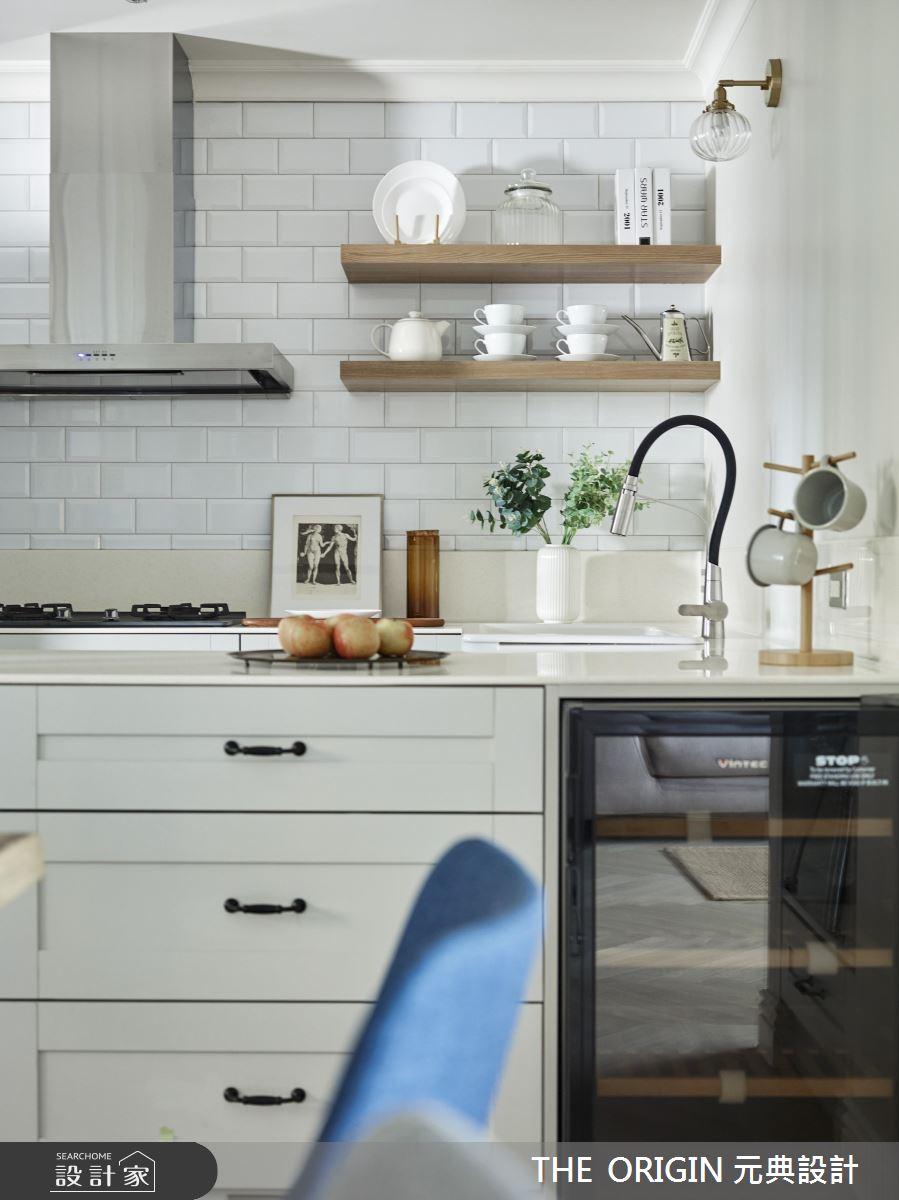 37坪新成屋(5年以下)_美式風廚房案例圖片_THE ORIGIN 元典設計_元典_18之14