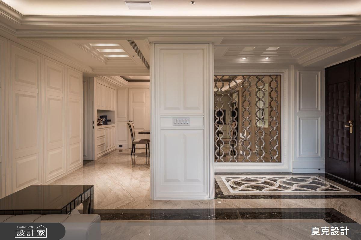 95坪新成屋(5年以下)_新古典玄關案例圖片_夏克設計_夏克_04之1