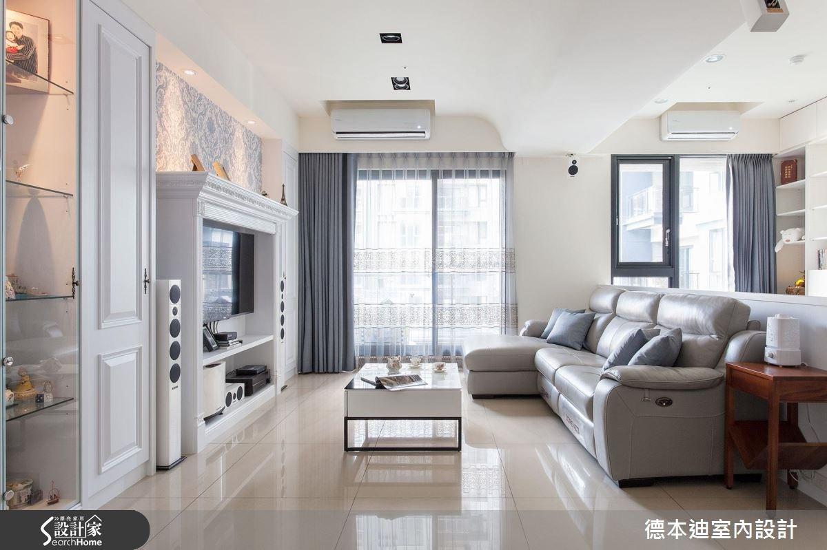 29坪預售屋_美式風客廳案例圖片_德本迪室內設計有限公司_德本迪_02之4