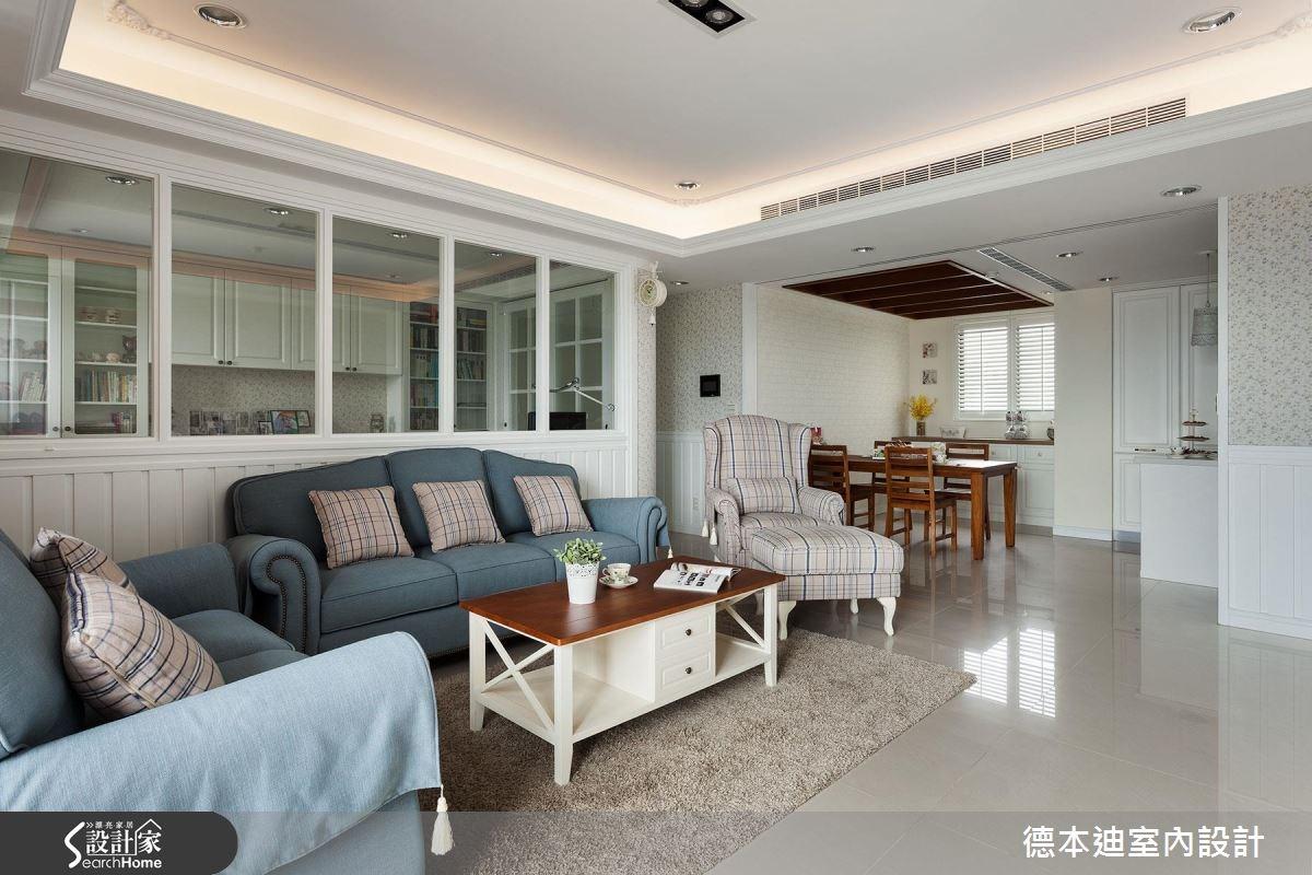 42坪預售屋_美式風客廳案例圖片_德本迪室內設計有限公司_德本迪_04之2